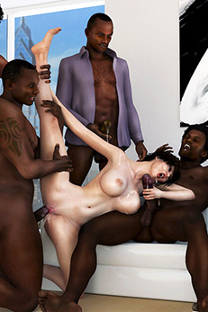girl squirts on big black cock